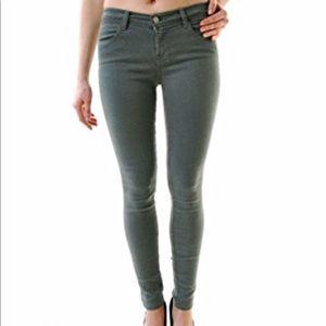 J Brand Super Skinny Spruce Jeans Sz 25 Grayish